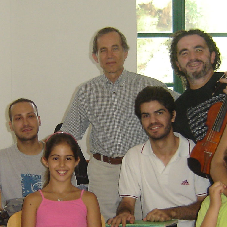 Vasile Beluska with Violin Class, Corfu 2007